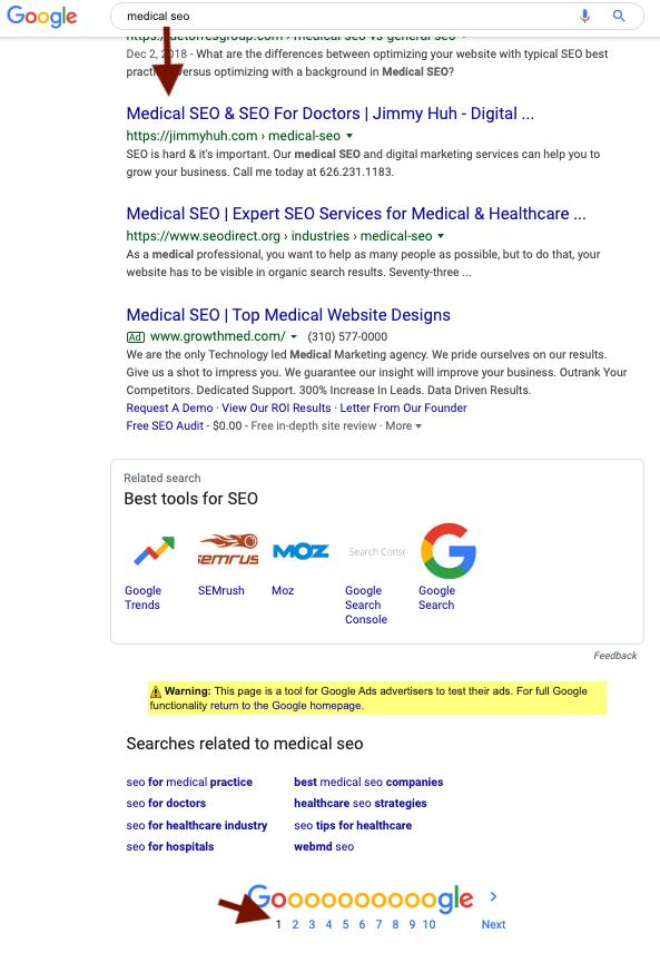 medical seo dental seo