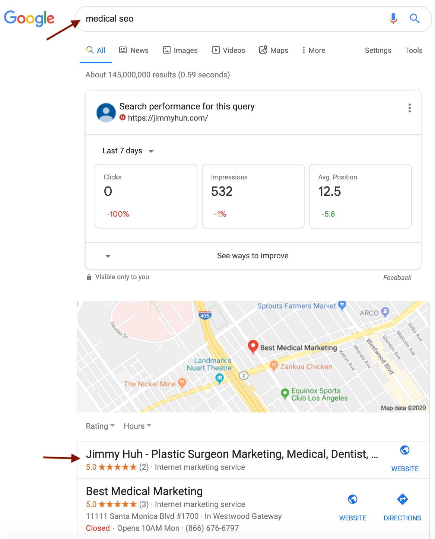 medical seo local ranking